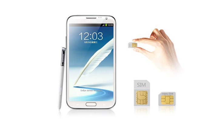 Samsung Galaxy Note II with Dual SIM