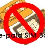 prepaid sim ban