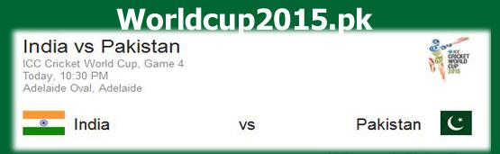 PAk v India World Cup 2015