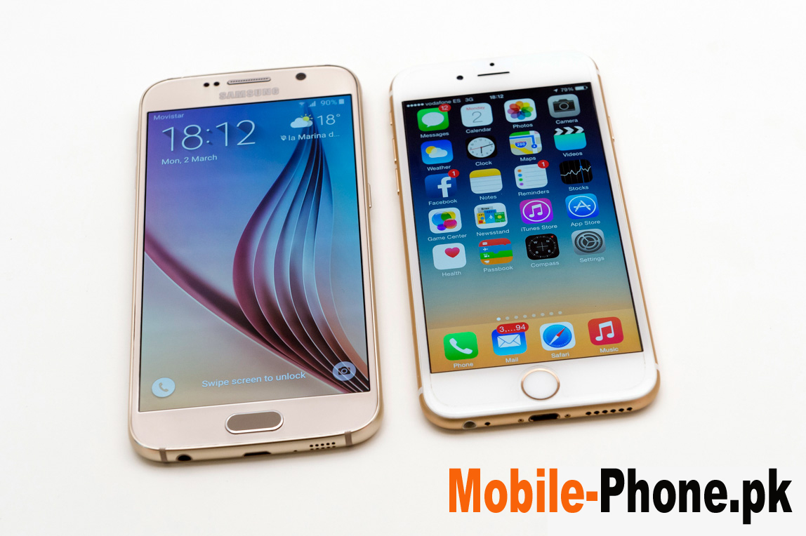 Smartphones Comparison 2015 Galaxy S6 Vs Iphone 6 Telecom It And Mobile News Pakistan