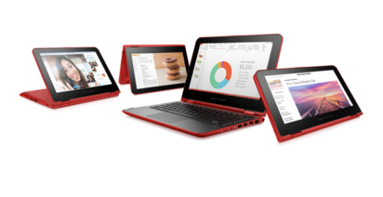HP Pavilion X360 Red