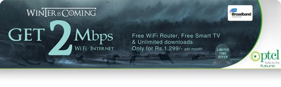 PTCL Broadband Winter Offer