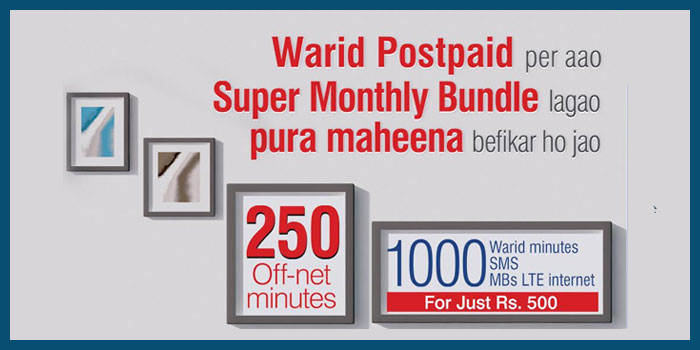 Warid Super Monthly Bundles for Postpaid Customers