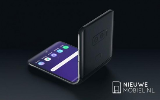 Foldable Samsung Galaxy F in 3D new