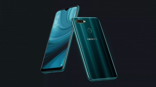 Oppo A7n front and back