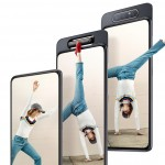 Samsung's Galaxy A80 is an automated notchless slider with a rotating triple camera