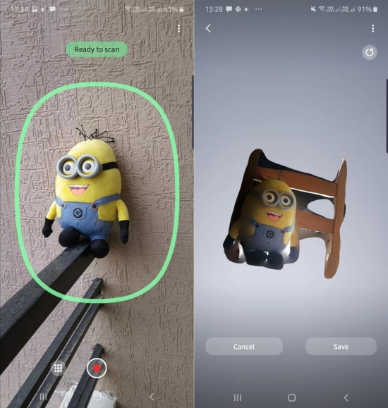 Samsung Galaxy Note 10+ Having A 3D Scanning App
