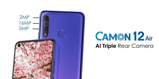 Tecno Camon 12 Air Triple Cam