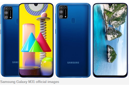 Galaxy M31 With 6000mAh Battery & 64 MP Quad Cameras