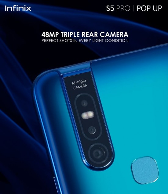 Infinix S5 Pro Pop Up Camera