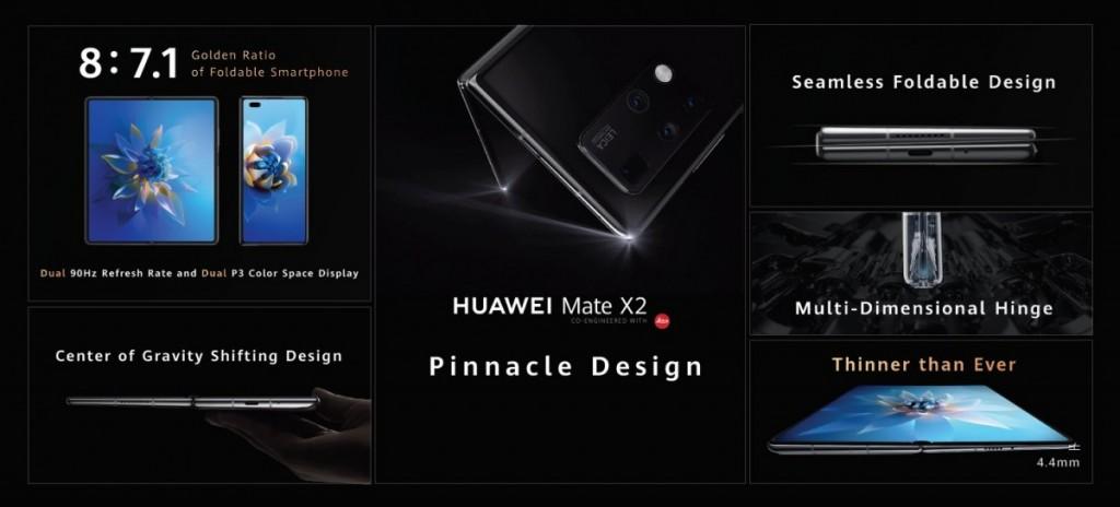 Huawei Mate X2 Design and Display