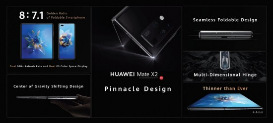 Huawei Mate X2 Design and Display