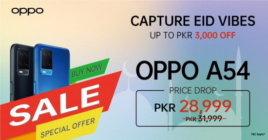 Oppo Announces Special Discount On Oppo F19 And Oppo A54 On Eid
